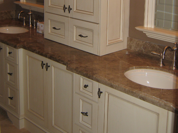 Bathroom With White Cabinets bathroom wood cabinets. totally love this  corner sink made from a